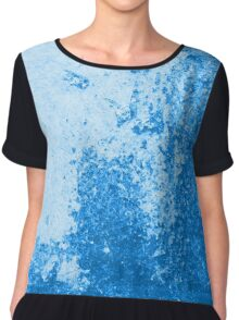 Earth Sweat Design (Snorkel Blue Color) Chiffon Top