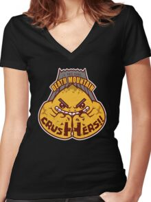 Death Mountain Crushers - Team Zelda Women's Fitted V-Neck T-Shirt