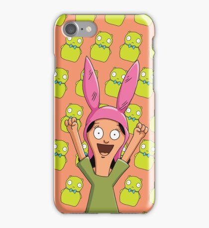 Louise Belcher Light Pattern Orange iPhone Case/Skin
