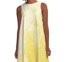 Earth Sweat Design (Buttercup Color) A-Line Dress