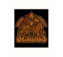 Kokiri Forest Scrubs - Team Zelda Art Print