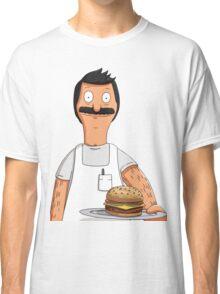 Bob Belcher Burger Pattern Blue Classic T-Shirt