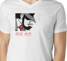 jigen Mens V-Neck T-Shirt