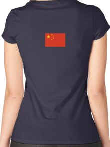 Chinese Flag Dress Women's Fitted Scoop T-Shirt