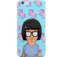 Tina Belcher Unicorn Pattern Blue iPhone Case/Skin