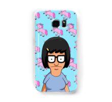 Tina Belcher Unicorn Pattern Blue Samsung Galaxy Case/Skin
