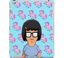 Tina Belcher Unicorn Pattern Blue iPad Case/Skin