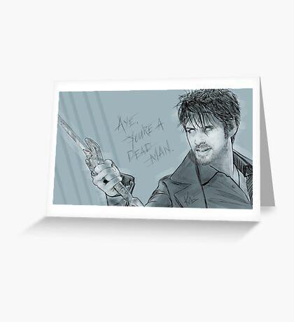 Dark Hook Greeting Card