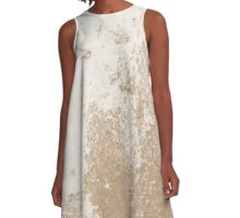 Earth Sweat Design (Iced Coffee Color) A-Line Dress