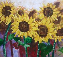 Glorious Sunflowers by Tony Broadbent