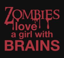 Zombies love a girl with BRAINS by jazzydevil