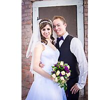 Tucker Wedding - Bride and Groom Photographic Print