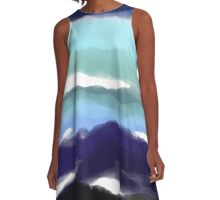 Stormy Sea A-Line Dress
