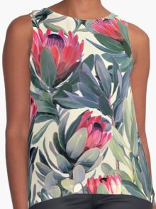 Painted Protea Pattern Contrast Tank