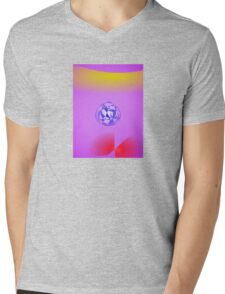 Purple Red Yellow Blue Mens V-Neck T-Shirt