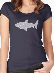 Smiling shark Women's Fitted Scoop T-Shirt