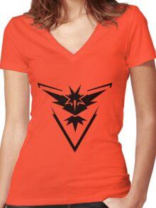 Pokemon Go   Team Instinct Women's Fitted V-Neck T-Shirt