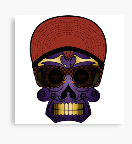 Skateboarder Mexican head   Canvas Print