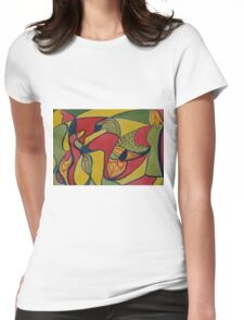 Watercolour Doodling! Womens Fitted T-Shirt