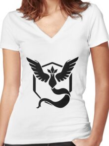 Pokemon Go | Team Mystic  Women's Fitted V-Neck T-Shirt