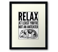 Fingal says Relax Framed Print