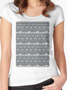 Pattern Elephant and mandala Women's Fitted Scoop T-Shirt