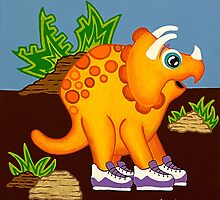 Yellow Dinosaur by Lisafrancesjudd