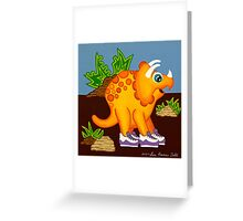 Yellow Dinosaur Greeting Card