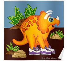 Yellow Dinosaur Poster