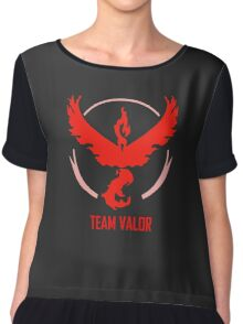 Go Team Valor Chiffon Top
