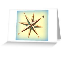 Ship's compass Greeting Card
