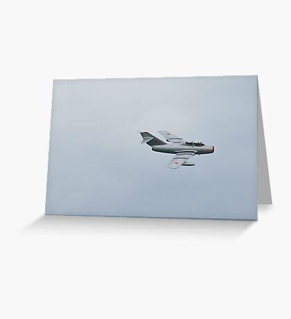 Mig 15 Bis Fagot B Fighter Aircraft 1949 Greeting Card