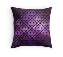 Mermaid Tail Purple Throw Pillow