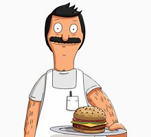 Bob Belcher Burger Pattern Yellow Unisex T-Shirt