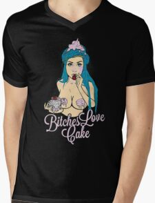 Bitches love cake Mens V-Neck T-Shirt