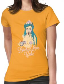 Bitches love cake Womens Fitted T-Shirt