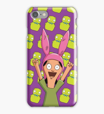 Louise Belcher Light Pattern Purple iPhone Case/Skin