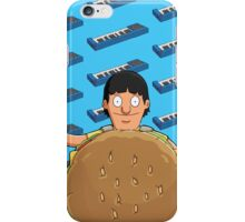 Gene Belcher Keyboard Pattern Blue iPhone Case/Skin
