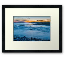 Summer night at Ogmore by Sea Framed Print