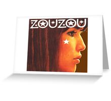 Zouzou ye ye french singer design Greeting Card