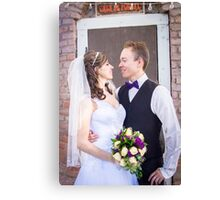Tucker Wedding - Bride and Groom 3 Canvas Print