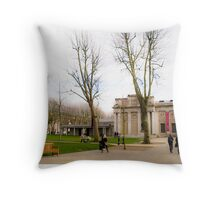 Greenwich color Throw Pillow