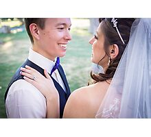 Tucker Wedding - Bride and Groom 2 Photographic Print