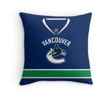 Vancouver Canucks Home Jersey Throw Pillow