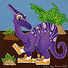 Purple Dinosaur by Lisa Frances Judd~QuirkyHappyArt