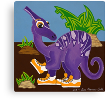 Purple Dinosaur Canvas Print