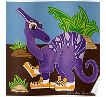 Purple Dinosaur Poster