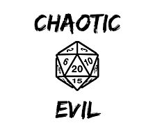 GAMER - Alignment : Chaotic evil Photographic Print