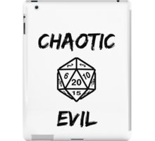 GAMER - Alignment : Chaotic evil iPad Case/Skin