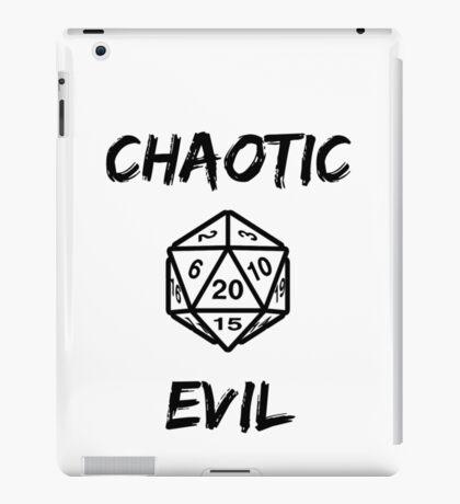 GAMER - Alignment : Chaotic evil iPad Case/Skin